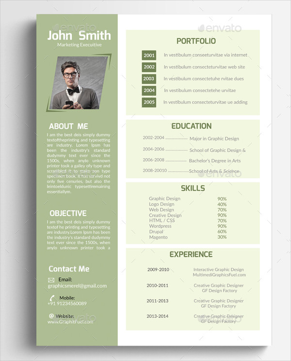 Professional Marketing Executive Resume
