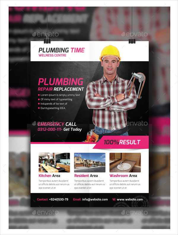 Professional Plumber Flyer Template