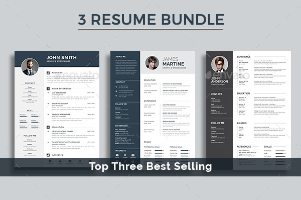 Professional Resume Templates Bundle