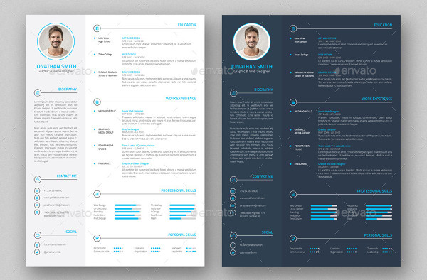 Professional Resumes & Business Card Templates