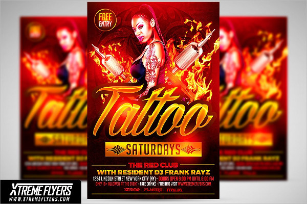Professional Snap Backs And Tattoo Flyer Template