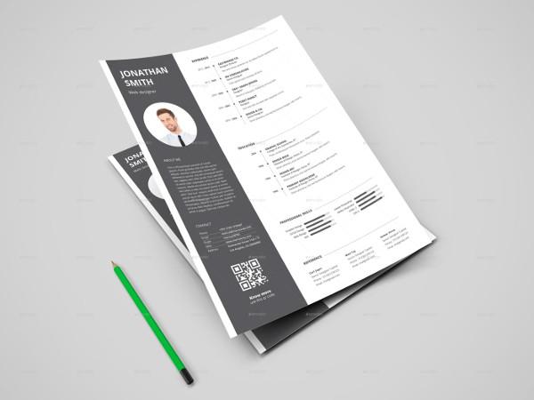 Professional Web Designer Resume Template