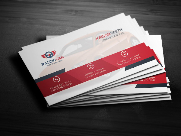 Racing Car Sports Business Card Template