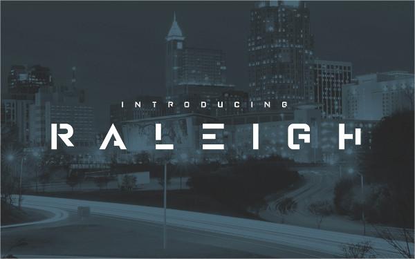 Modern Raleigh Stencil Font