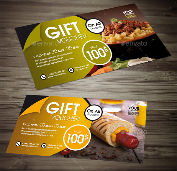 Simple Food Gift Voucher Template