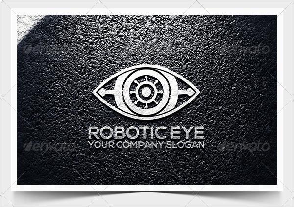 Robotic Eye Logo Template