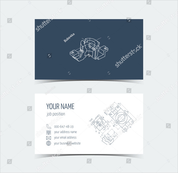 Set of Computer Engineer Business Cards Vector