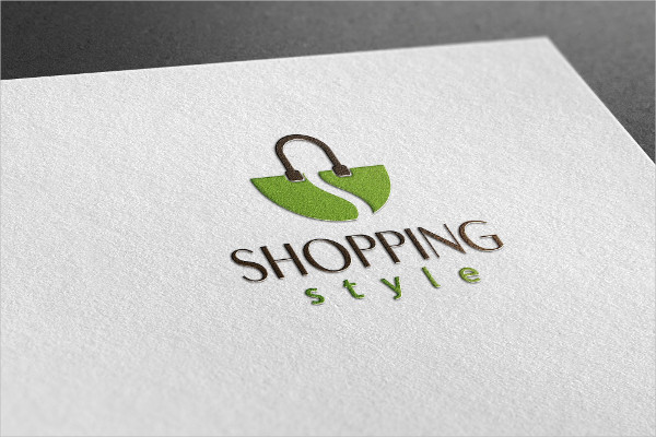 Fully Editable Shopping Style Logo Template