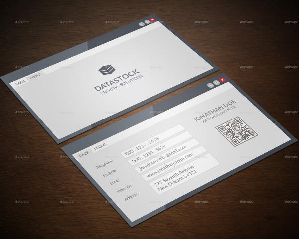 Best Software Engineer Business Card Template