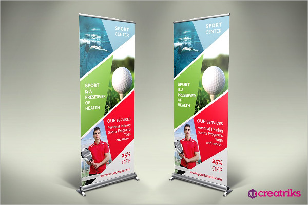 Sport Center Roll Up Banner Template