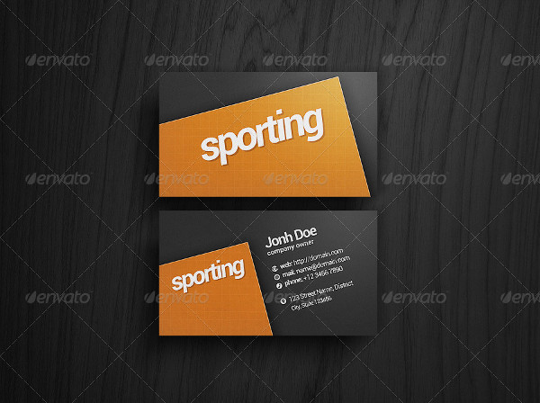 Sports Academy Business Card Template