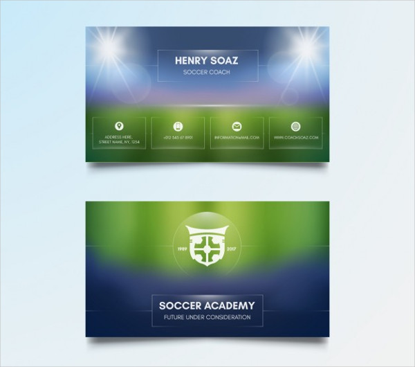 Sports Coach Business Card Free Vector
