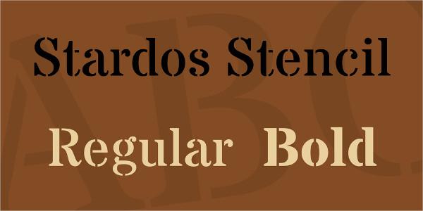 Free Stencil Font Family