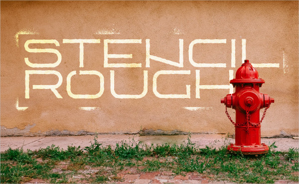 Stencil Rough Bold Font