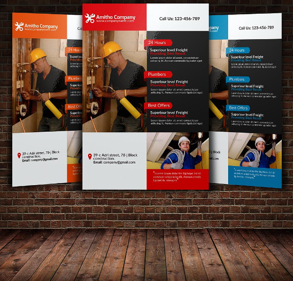 Perfect Plumber Services Flyer Template