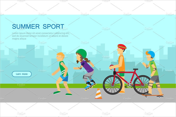 Beautiful Summer Sport Banner