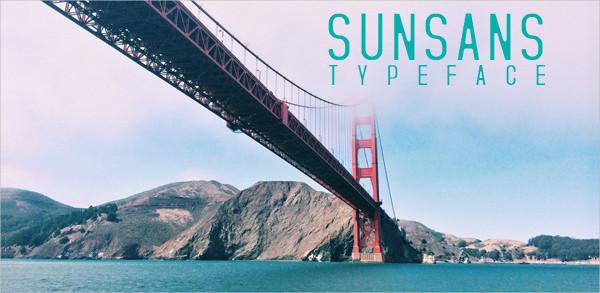 Sunsans Thin Font