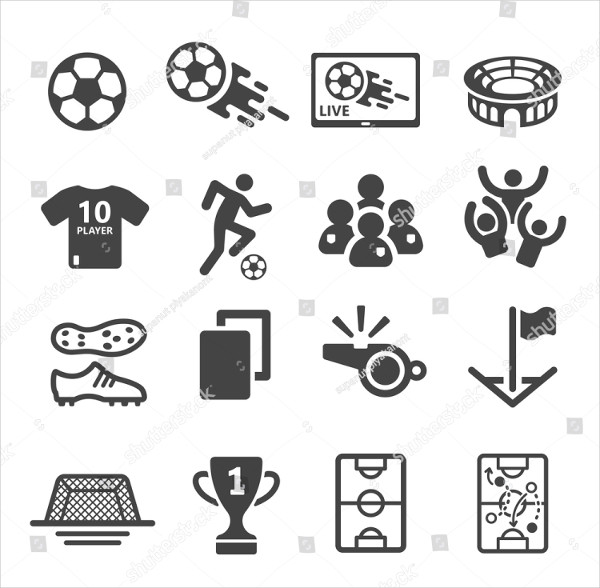 Attractive Soccer Team Icons