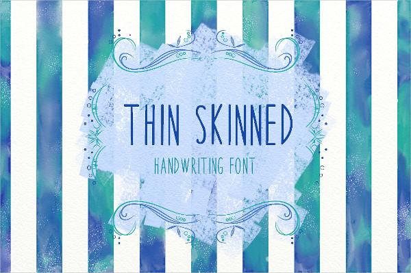 Thin Skinned Handwriting Font