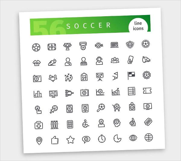 Best Soccer Line Icons Set