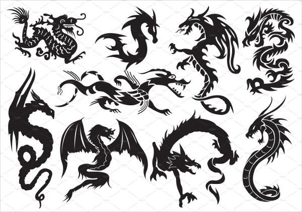 Tattoo Designs Dragon Tribal