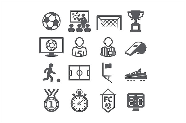 Editable Soccer Icons