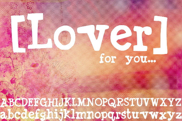 Lover Hand Drawn Font
