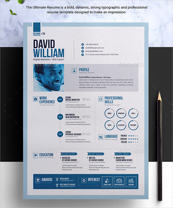 Ultimate Professional Resume Template Builder