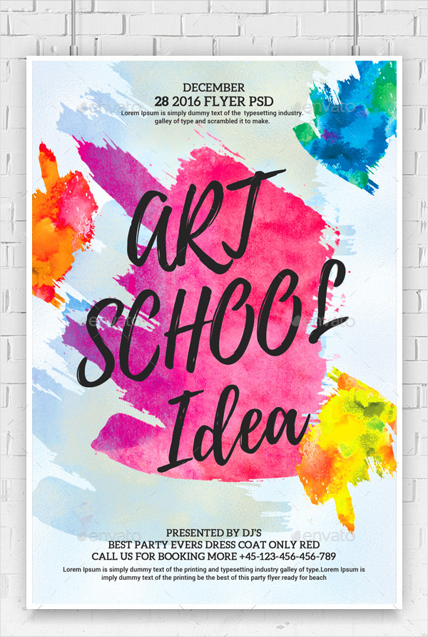 21 watercolor flyer templates free premium download