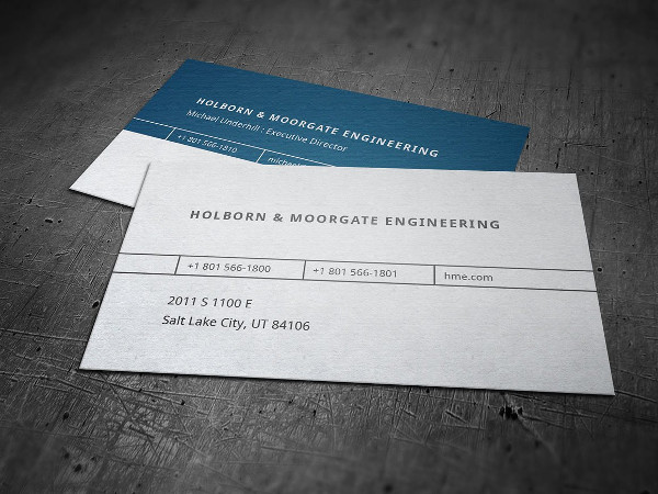 Mechanical Engineering Business Card Template