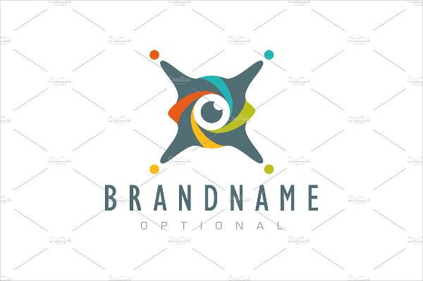 X Drone Eye Logo Design