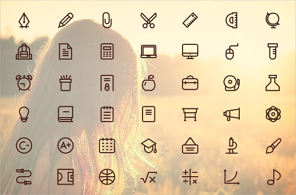 Perfect Outline School Vector Icons