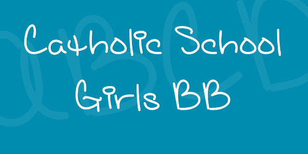 Catholic School Girls BB Font