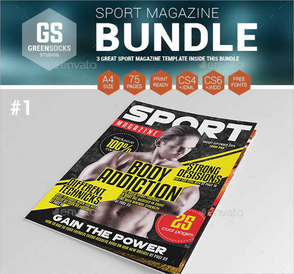 Cool Sports Magazine Templates Bundle