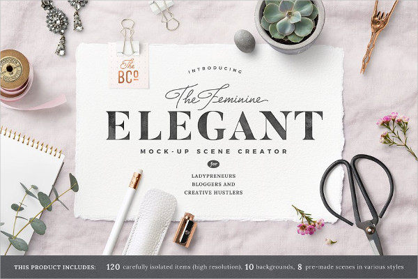 Elegant Mock-Up Scene Creator