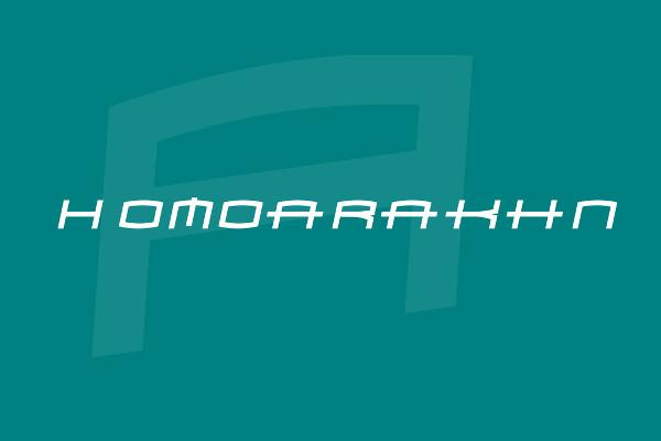 Free Homoarakhn Font