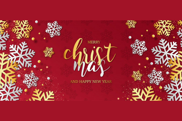 Modern Merry Christmas Background with Snowflakes Free