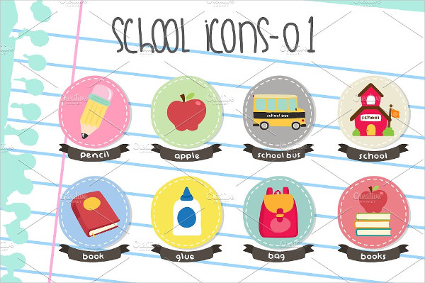 Unique School Icons Pack