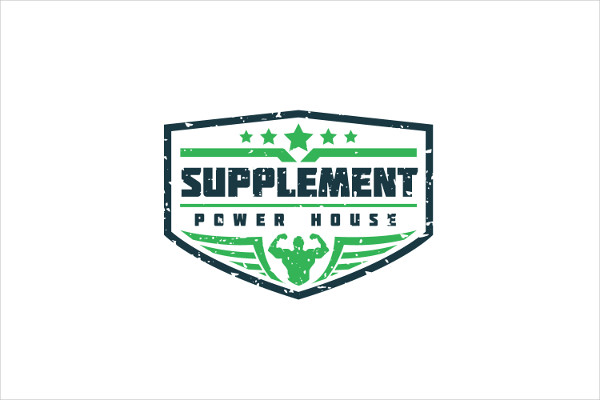 Protein Supplement Logo Template