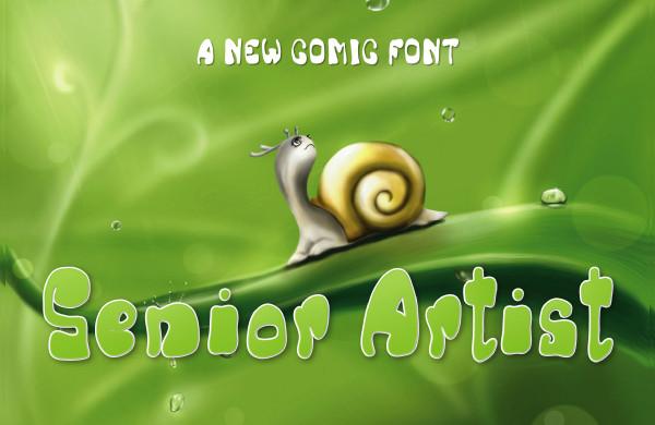 Senior Artist Comic Font