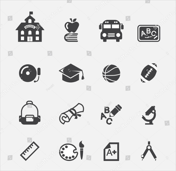 Attractive School Icon Set