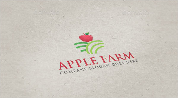 Branding Apple Farm Logo Template