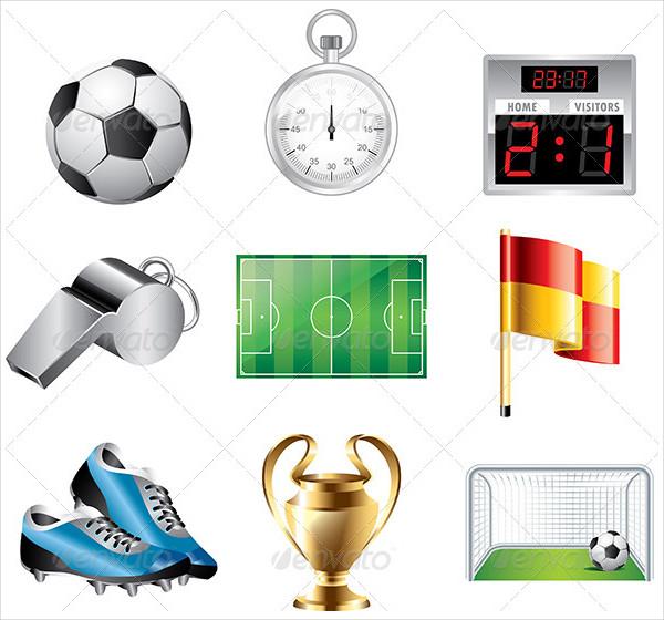 Basic Soccer Game Icons