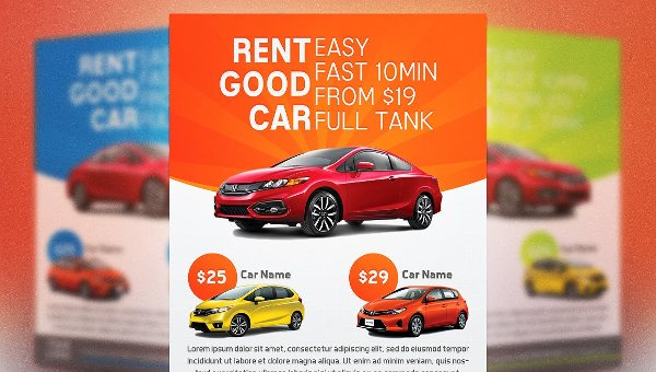 Car Rental Flyer Templates