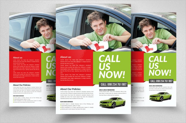 Driving Learning School Flyer Template