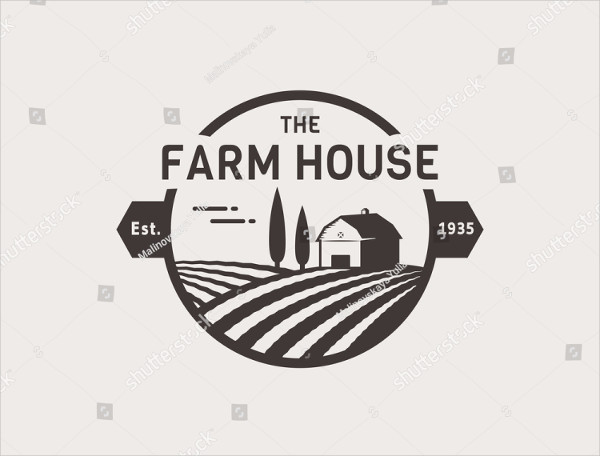 Farm House Concept Logo Template