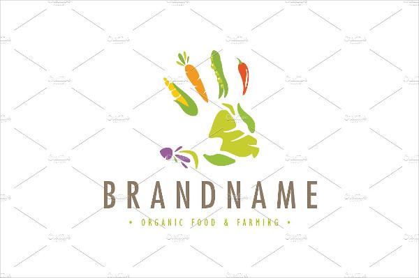 Farming Hand Print Logo Template