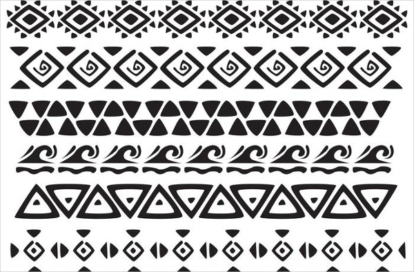 Free Hawaiian Tribal Pattern Vectors Pack