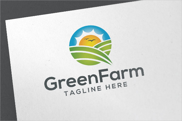 Perfect Green Farm Logo Template