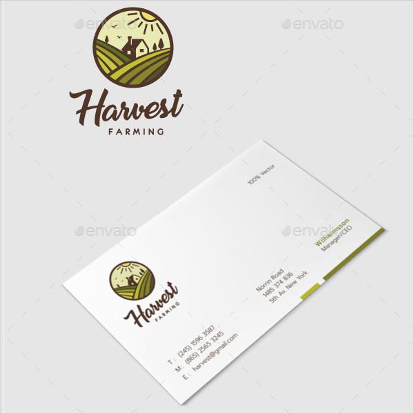 Modern Harvest Farming Logo Template